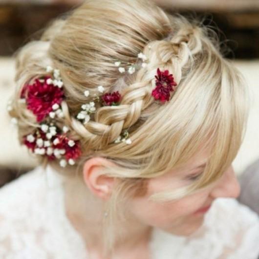 Simplicité, coiffure de mariée